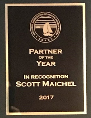 Scott Maichel partner of the year award